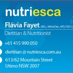 Nutriesca Business Card Front